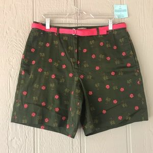 Pants - Tommy Bahama | green pink flower-chino belt short